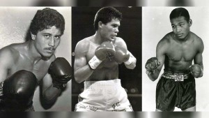 Wilfredo Gomez, Julio Cesar Chavez, and Sugar Ray Leonard