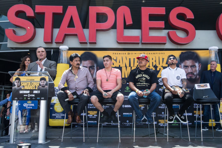 Santa Cruz vs Mares Press Conference Staples Center_12
